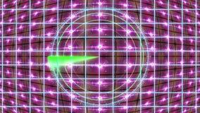 Painel de HUD com uma grade do radar e um fundo movente Gráficos do movimento ilustração royalty free