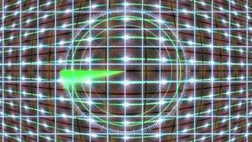 Painel de HUD com uma grade do radar e um fundo movente Gráficos do movimento ilustração stock