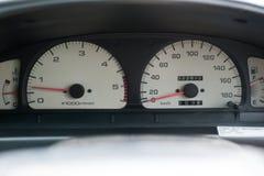 Painel de instrumento do carro, velocímetro e outros calibres no carro Foto de Stock Royalty Free