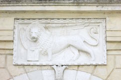 painel de mármore do Bas-relevo Foto de Stock