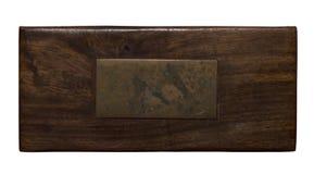 Painel de madeira com chapa de bronze envelhecida Foto de Stock Royalty Free
