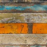 Painel de madeira com vário Pale Painted Colors Foto de Stock