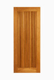 Painel de madeira da porta da teca no fundo branco isolado Foto de Stock Royalty Free
