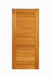 Painel de madeira da porta da teca no fundo branco isolado Fotos de Stock Royalty Free