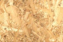 Painel de madeira de OSB feito da opinião dianteira pressionada de lado traseiro de aparas de madeira Foto de Stock