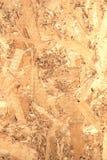 Painel de madeira de OSB feito da opinião dianteira pressionada de lado traseiro de aparas de madeira Fotos de Stock
