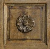 Painel de madeira ornamentado foto de stock royalty free