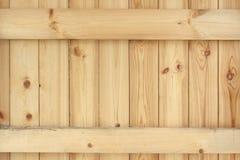 Painel de madeira Unpainted natural com fundo esquadrado da viga Fotos de Stock Royalty Free