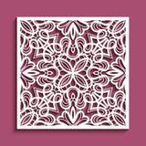 Painel de papel do entalhe com teste padrão do laço Foto de Stock Royalty Free