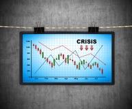 Painel de plasma com esquema da crise Imagens de Stock