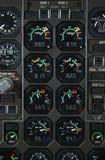 Painel de potência do avião fotos de stock