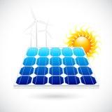 Painel de potência solar Fotografia de Stock Royalty Free