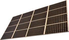 Painel de potência solar isolado no fundo branco Imagem de Stock
