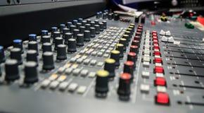 Painel de rádio do misturador Imagens de Stock