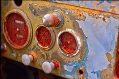 Painel de traço do carro antigo imagens de stock