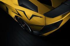 Painel de um quarto traseiro do Aventador SV Fotografia de Stock Royalty Free