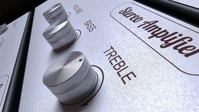 Painel do amplificador Imagens de Stock Royalty Free