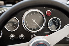 painel do carro de corridas dos anos 70 Foto de Stock Royalty Free