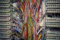 Painel do circuito de controle de uma comunicação para telefones foto de stock