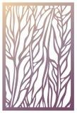 Painel do corte do laser do vetor Molde abstrato do teste padrão para decorativo Fotos de Stock Royalty Free