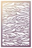 Painel do corte do laser do vetor Molde abstrato do teste padrão para decorativo Fotos de Stock