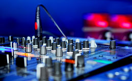 Painel do DJ Foto de Stock