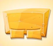 Painel do lingote do ouro dos desenhos animados para o jogo de Ui ilustração royalty free