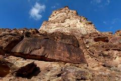 Painel do Petroglyph: Garganta de 9 milhas Fotos de Stock