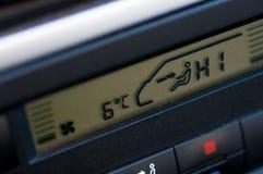 Painel do sistema de refrigeração do aquecimento no carro de família usado fotografia de stock