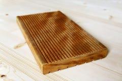 Painel do terraço feito da madeira do garapa Imagem de Stock Royalty Free