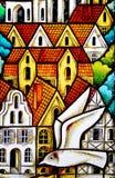Painel do vidro colorido Fotografia de Stock