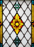 Painel do vidro colorido no mus Imagem de Stock