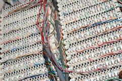 Painel dos fios de telefone fotografia de stock royalty free