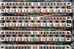 Painel dos fios de telefone Fotos de Stock