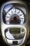 Painel e velocímetro de uma motocicleta Fotos de Stock Royalty Free