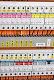 Painel elétrico fotografia de stock
