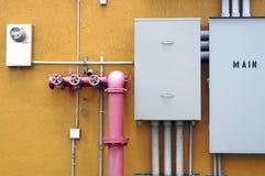 Painel elétrico da conexão Fotografia de Stock Royalty Free