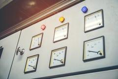 Painel elétrico industrial do interruptor imagem de stock royalty free