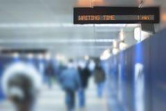 Painel eletrônico com sinal (tempo de espera) Imagem de Stock Royalty Free
