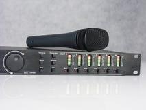 Painel frontal audio de DSP com microfone Foto de Stock Royalty Free