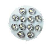 Painel frontal da lâmpada de poupança de energia do diodo emissor de luz Imagem de Stock Royalty Free