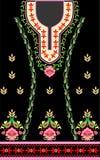 Painel frontal tradicional do vestuário das senhoras coloridas e bonitas, projeto gerado por computador ilustração royalty free