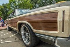 Painel incomum da madeira do carro do vintage Foto de Stock Royalty Free