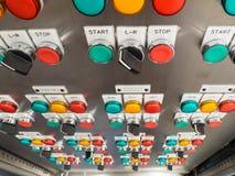 Painel industrial, bonde do interruptor Imagens de Stock