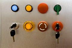 Painel industrial do interruptor Foto de Stock Royalty Free