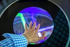 Painel interativo do diodo emissor de luz foto de stock