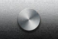 Painel metálico com botão foto de stock royalty free