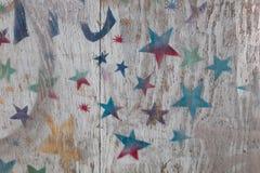 Painel pintado da cerca Fotos de Stock