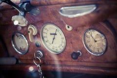 Painel retro do carro Foto de Stock Royalty Free