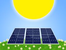 Painel solar Imagens de Stock Royalty Free